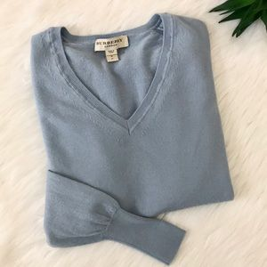Burberry London Whistonbrook Wool V-Neck Sweater